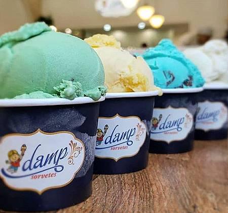 Pote de 1,3 Litro de sorvete do Damp Sorvetes