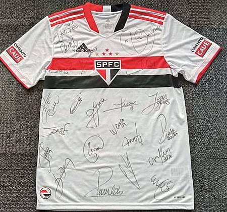 Camisa Oficial Dani Alves do São Paulo Futebol Clube  - Autografada por craques do elenco