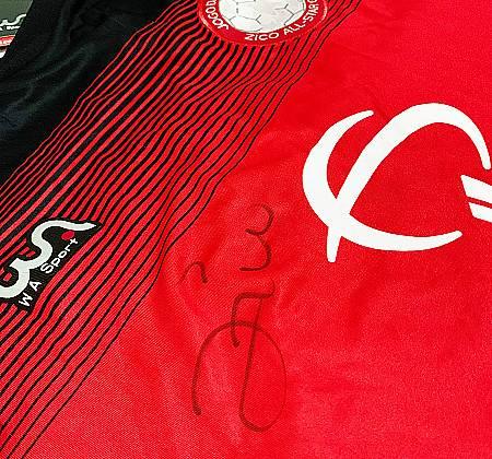 Camisa Oficial Jogo das Estrelas - autógrafo Zico