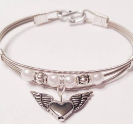 Angel Wing and Heart Bracelet