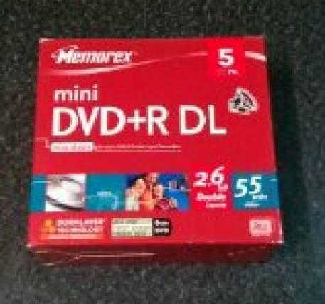 Mini DVD + envelope - caixa 5 unidades