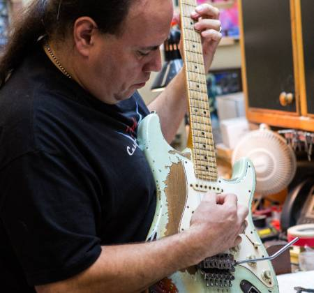 Guitarra Fender - Custom Shop construída por John Cruz – Rock in Rio
