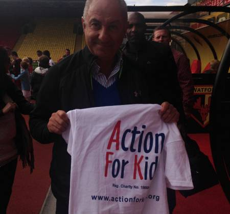 Autographed shirt by Ricky Villa and Ossie Ardiles to support Action For Kids