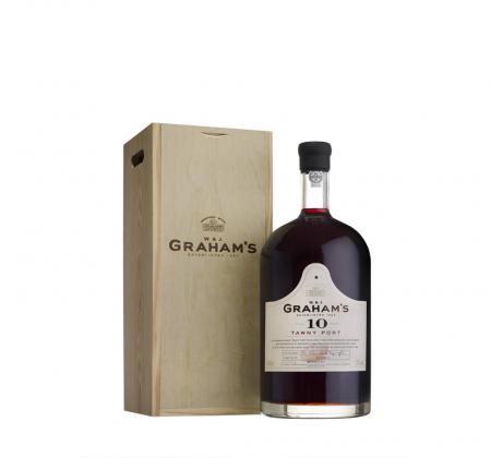 Bottle of Jeroboam Graham's ten year aged port wine