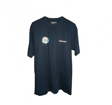 T-shirt azul da Quebramar (tamanho L)
