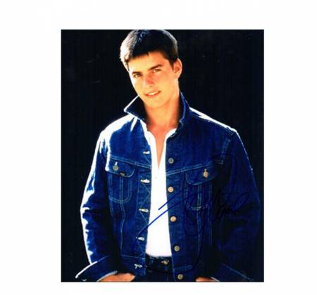 Signed photograph of and by Tom Cruise to benefit Grief Encounter