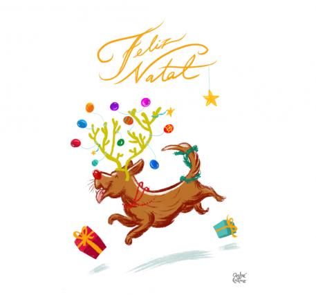 Postal de Natal_Cachorro