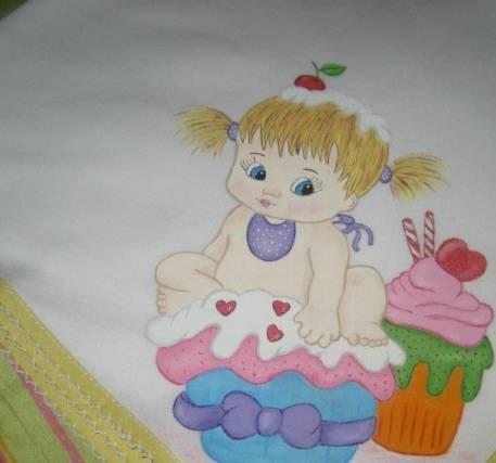 Fraldas pintadas à mão