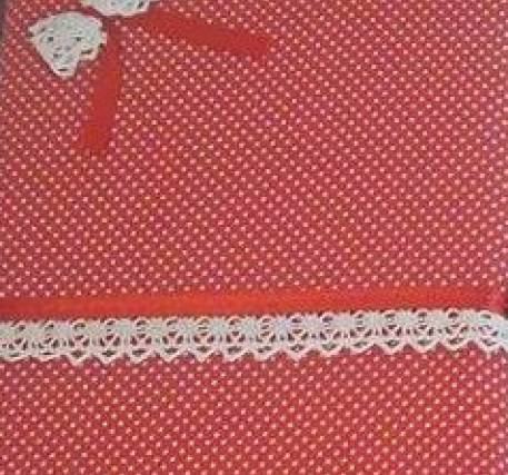 Caderno A5 de linhas com forra em tecido removível