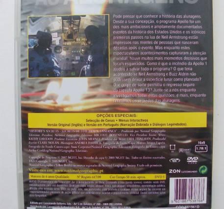 DVD As Alunagens - Quatro Décadas de Viagens Espaciais