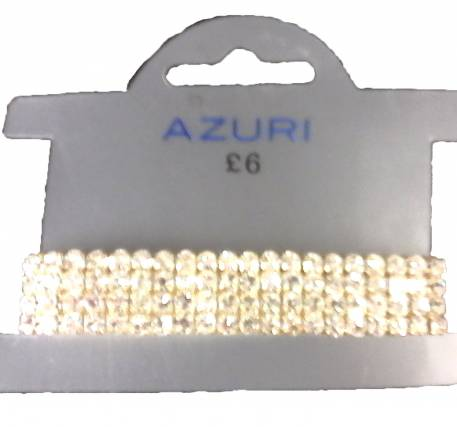 Azuri 4 row diamante bracelet