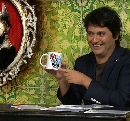 Caneca do Fernando Alvim autografada