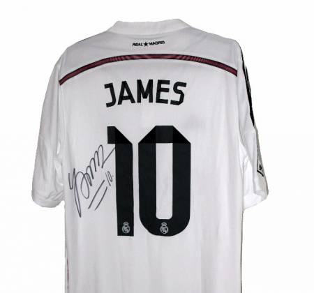 Camisola autografada pelo James Rodríguez | Real Madrid