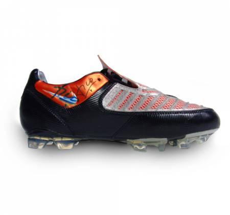 Luís Figo's autographed football shoes