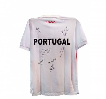 Official Portuguese Tennis Team polo shirt signed by players