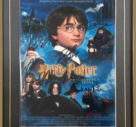Harry Potter signed movie poster by Daniel Radcliffe, Emma Watson and more