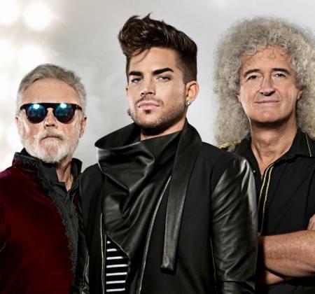 Rock in Rio - QUEEN and Adam Lambert  - Autographed guitar IN PERSON