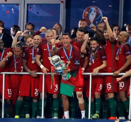Portuguese national football team shirt signed by Cristiano Ronaldo