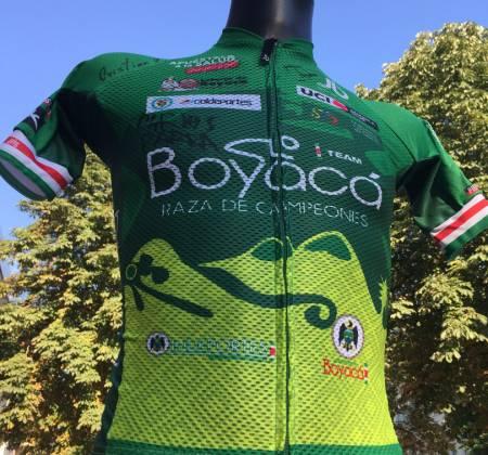 Camisola autografada pela equipa Boyaca Raza De Campeones - Colombia - Volta a Portugal