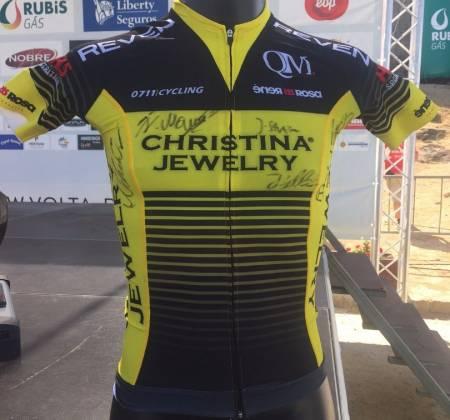 Camisola autografada pela equipa Christina Jewlry Pro Cycling | Volta a Portugal