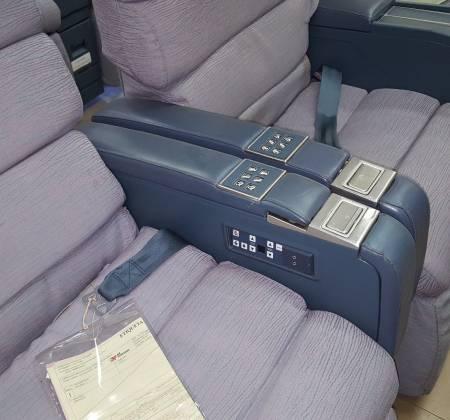 Cadeira dupla de executiva do avião A340 da TAP | 12