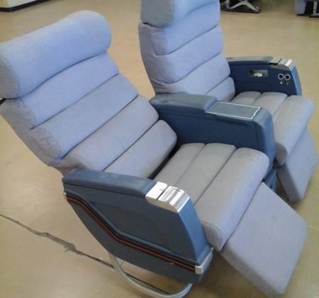 Cadeira dupla de executiva do avião A310 da TAP | 5