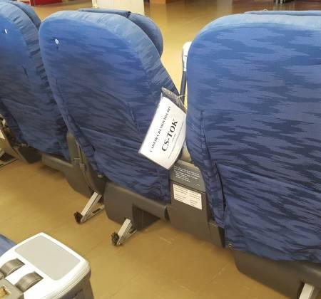 Cadeira dupla de executiva do avião A330 da TAP | 21