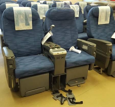 Cadeira dupla de executiva do avião A330 da TAP | 22
