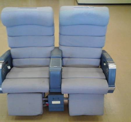 Cadeira dupla de executiva do avião A310 da TAP |  13