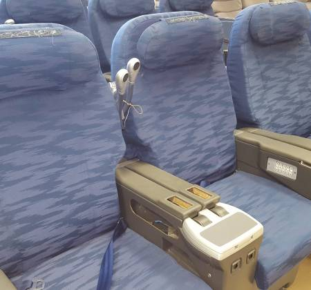 Cadeira dupla de executiva do avião A330 da TAP | 30