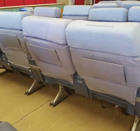 Cadeira dupla de executiva do avião A340 da TAP | 24