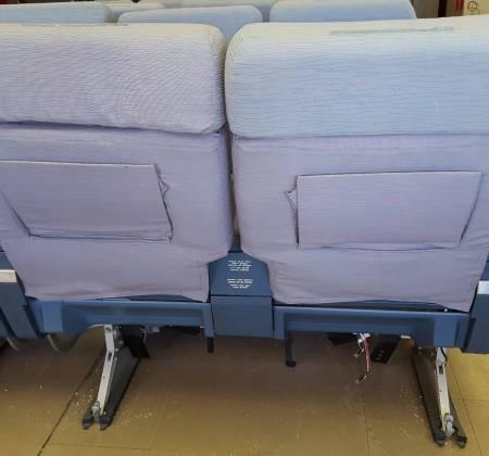 Cadeira dupla de executiva do avião A340 da TAP | 29