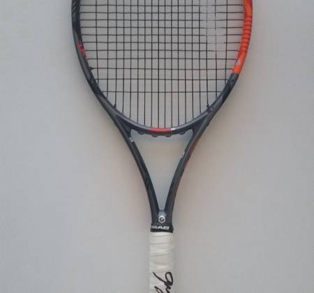 Gastão Elias' official tennis racket with his own autograph