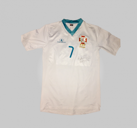 Portugal National Roller Hockey jersey autographed by Ricardo Barreiros