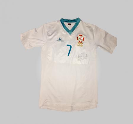 Camisola do Seleção Portuguesa de Hóquei em Patins autografada pelo Ricardo Barreiros
