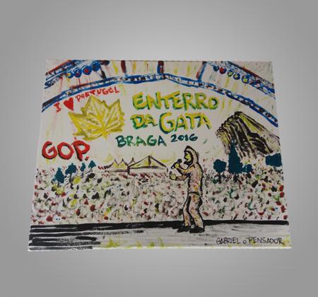Quadro pintado à mão por Gabriel O Pensador
