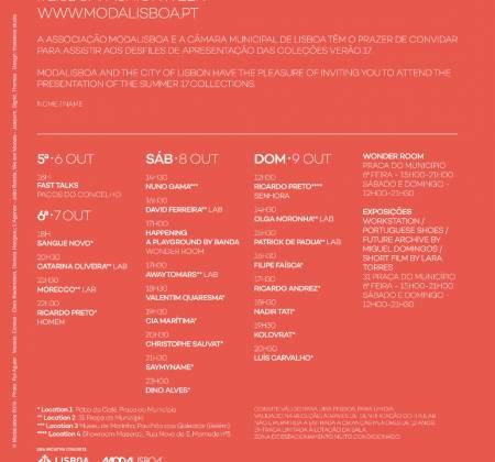 Convite duplo – ModaLisboa 2016 – 8 de Outubro