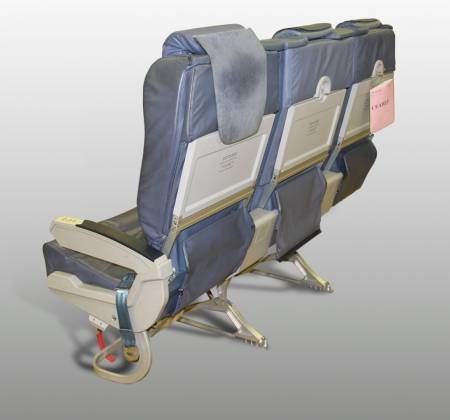 Cadeira tripla de executiva do avião A319 da TAP | 2