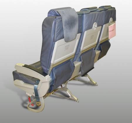 Cadeira tripla de executiva do avião A319 TTO da TAP - 14