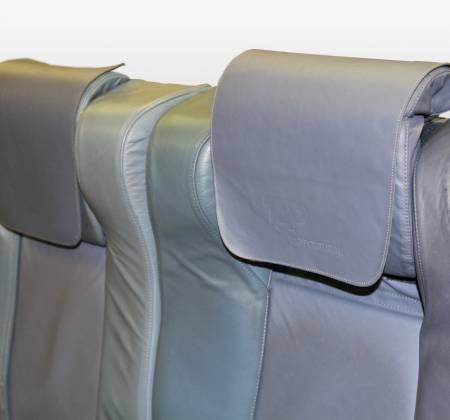 Cadeira tripla de executiva do avião A319 TTO da TAP - 20