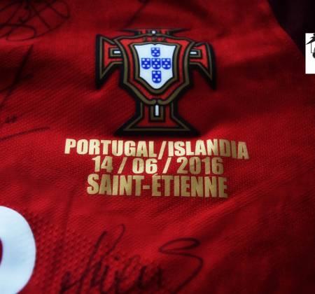Camisola Seleção Nacional usada no jogo Portugal - Islândia