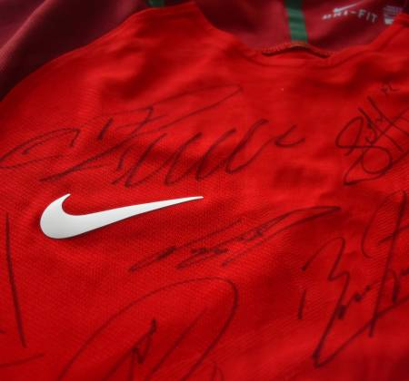 National Team Jersey used in the game Portugal - Iceland