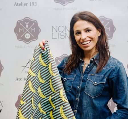 Almofada costurada pela Joana Cruz (Rádio)