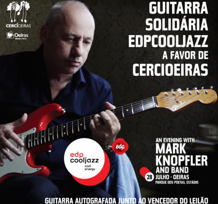 Autographed guitar in person by Mark Knopfler