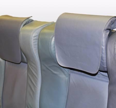 Cadeira tripla de executiva do avião A319 TTO da TAP - 29