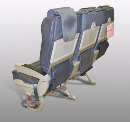 Cadeira tripla executiva do avião A319 CS-TTM da TAP - 16