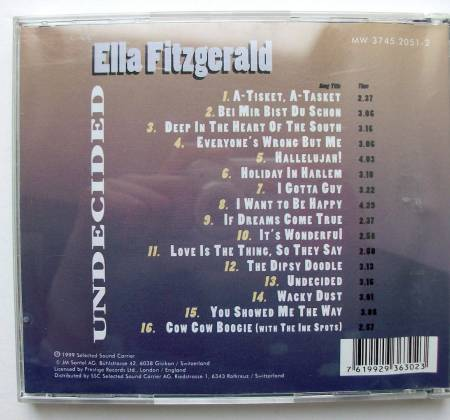 CD Ella Fitzgerald - Undecided