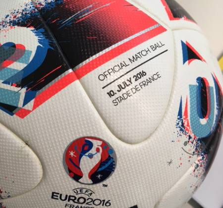 Ball used in the final of Euro 2016 Portugal – France