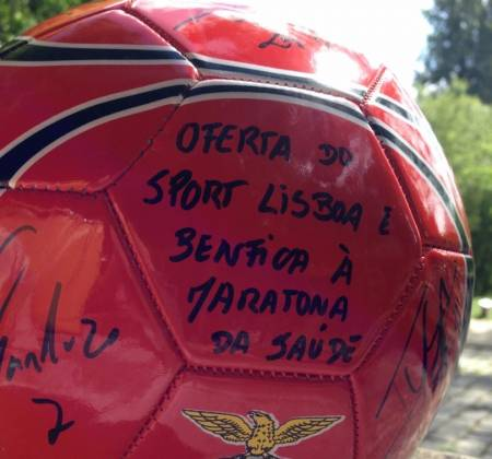 Official Ball of Sport Lisboa e Benfica signed