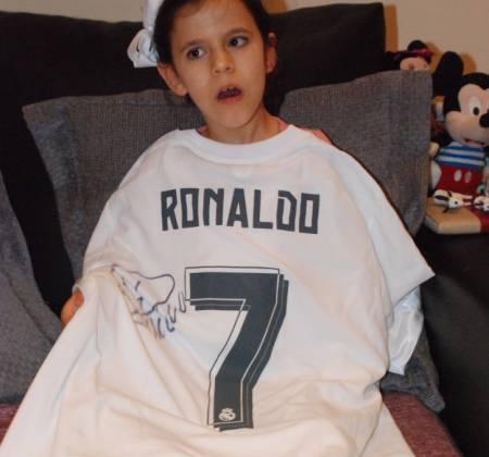 Camisola de Cristiano Ronaldo (Real Madrid) autografada